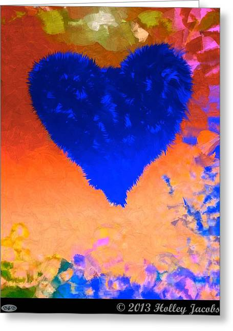 Still My Baby Blue Greeting Card by Holley Jacobs