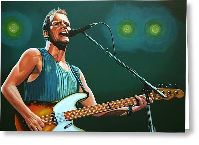 Sting Greeting Card by Paul Meijering
