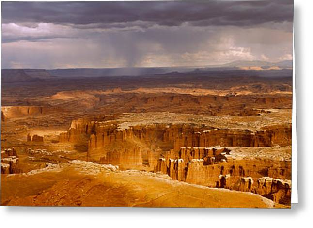 Storm Clouds Over Canyonlands National Greeting Card by Panoramic Images