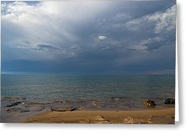 Storm Over Lake Superior Greeting Card
