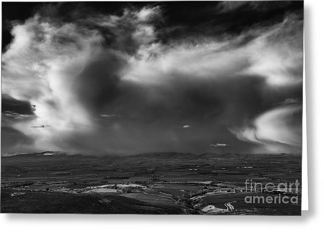 Storm Over The Kittitas Valley Greeting Card by Mike  Dawson