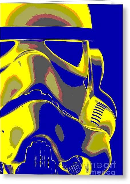 Stormtrooper Helmet 7 Greeting Card by Micah May