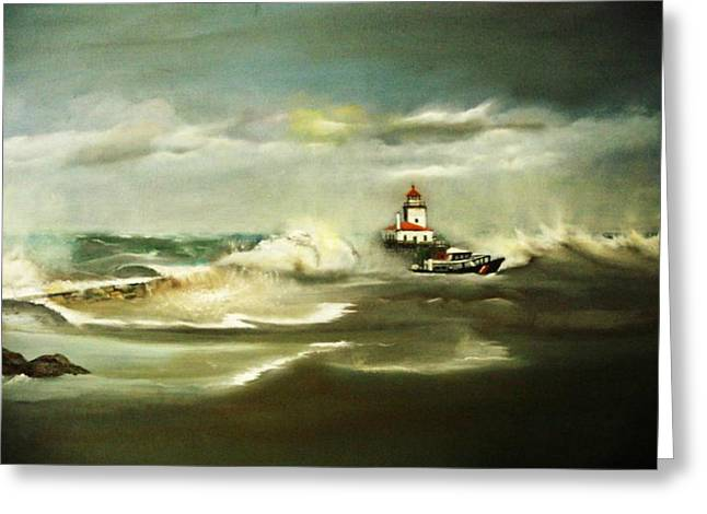 Stormy Greeting Card by Pamela Powers