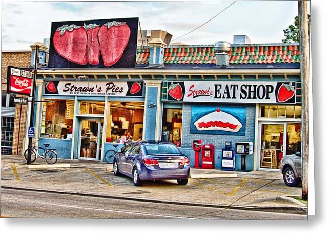 Strawn's Eat Shop Greeting Card by Scott Pellegrin
