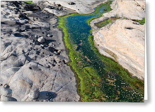 Stream Flowing Through A Rocky Greeting Card