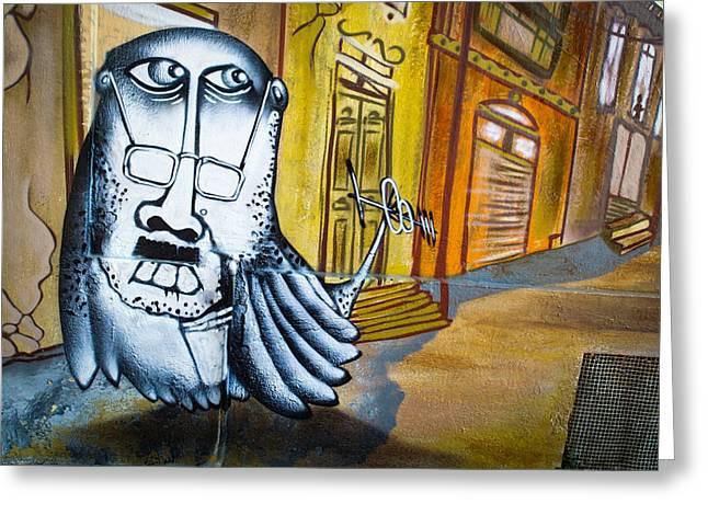 Street Art Valparaiso Greeting Card