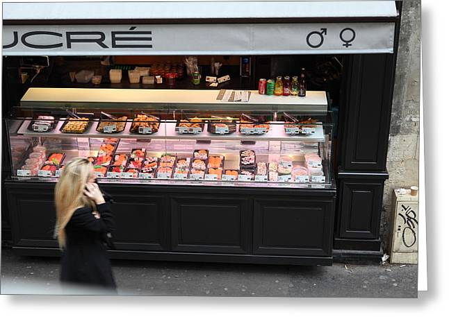 Street Scenes - Paris France - 011338 Greeting Card by DC Photographer