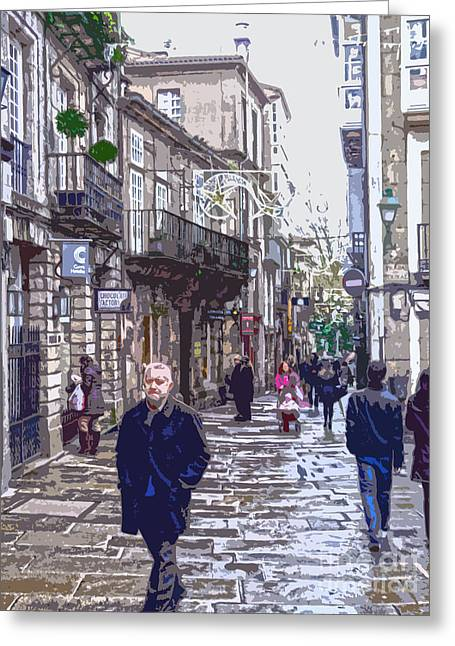 Streets And People Greeting Card