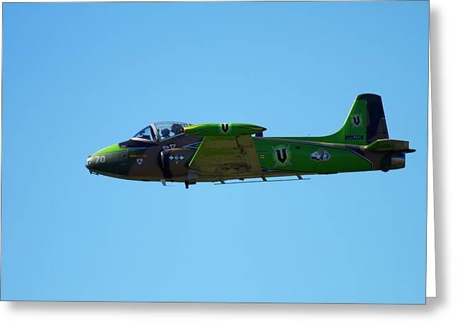 Strikemaster Jet, Warbirds Over Wanaka Greeting Card by David Wall