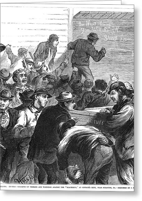 Striking Coal Miners, 1871 Greeting Card by Granger