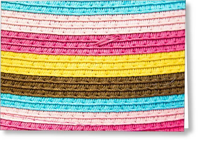 Striped Fabric Greeting Card by Tom Gowanlock