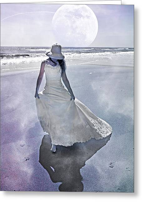 Strolling In Paradise Greeting Card