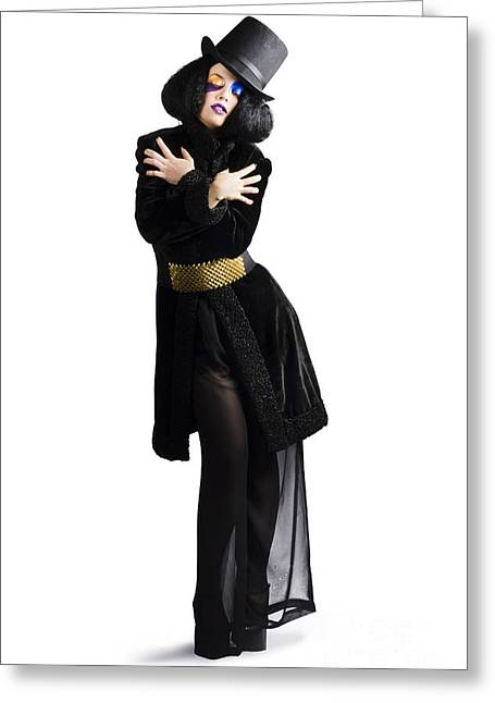 Stylish High Fashion Woman Greeting Card by Jorgo Photography - Wall Art Gallery