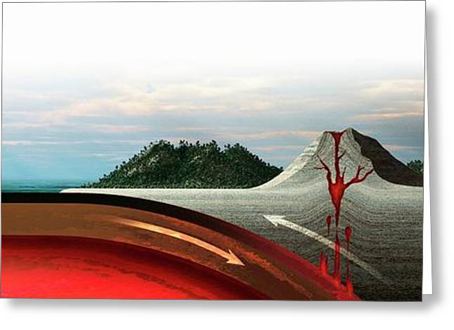 Subduction Zone Volcanism Greeting Card by Mikkel Juul Jensen