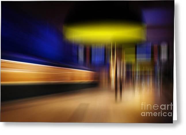 Subway Impressions Greeting Card by Martin Dzurjanik