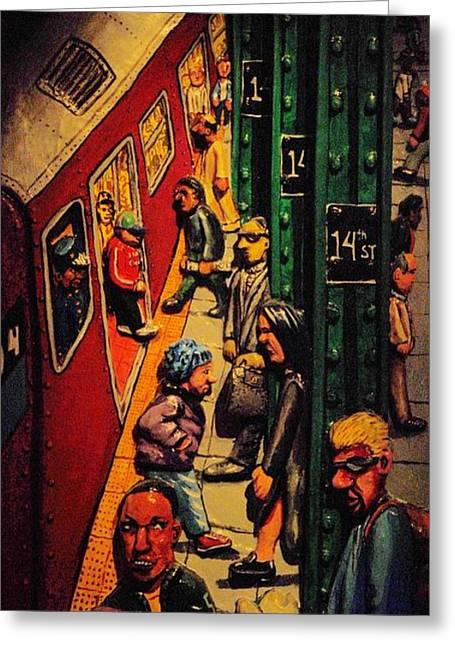 Subway Greeting Card by Rob Hans