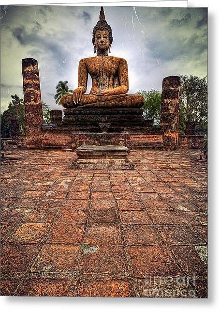 Sukhothai Buddha Greeting Card by Adrian Evans