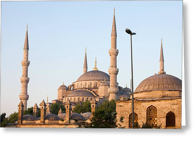 Sultan Ahmet Mosque In Istanbul Greeting Card