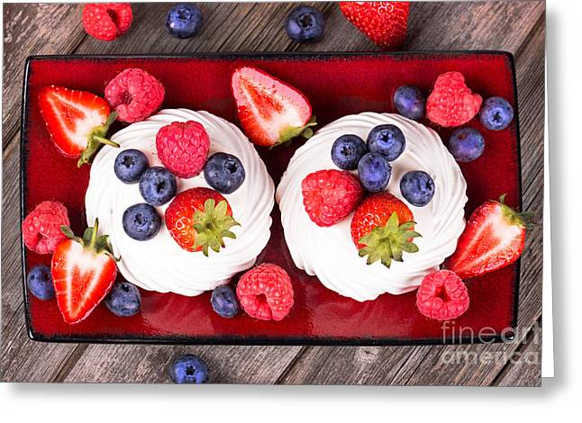 Summer Fruit Platter Greeting Card by Jane Rix