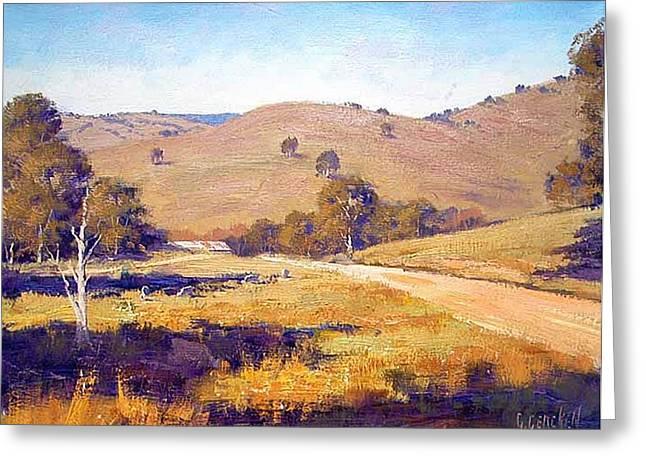 Summer Landscape Greeting Card by Graham Gercken