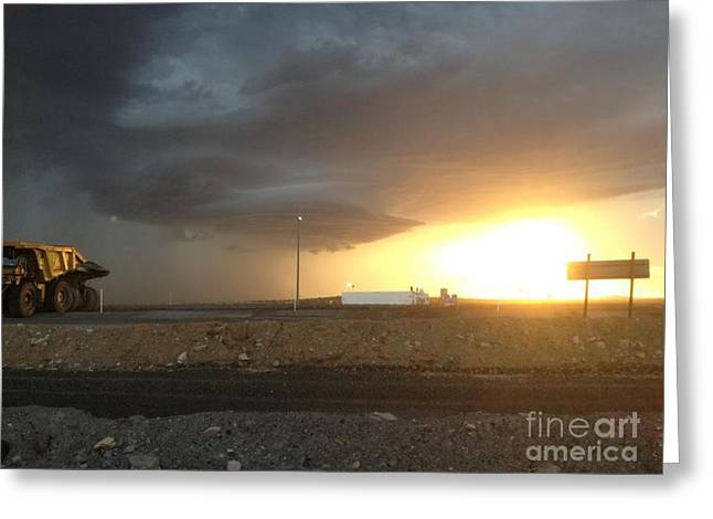 Summer Storm Greeting Card by Barry Olsen