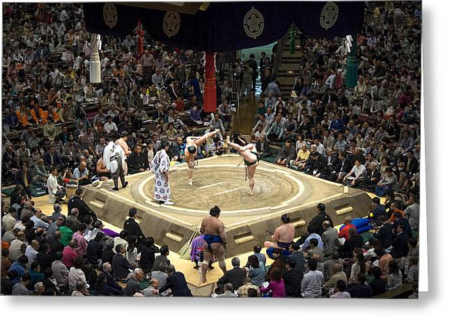 Sumo Summer Tournament 2014 Tokyo Greeting Card