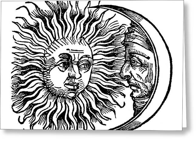 Sun And Moon, 1493 Greeting Card