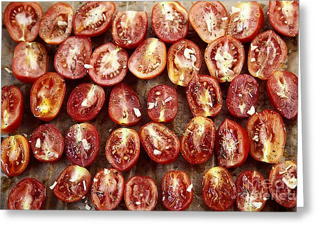 Sun Dried Tomatoes Greeting Card by Mythja  Photography
