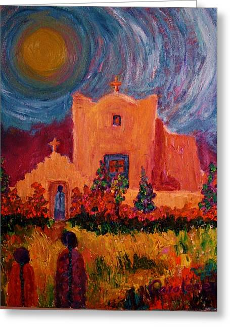 Sunday Morning In New Mexico Greeting Card by Carolene Of Taos