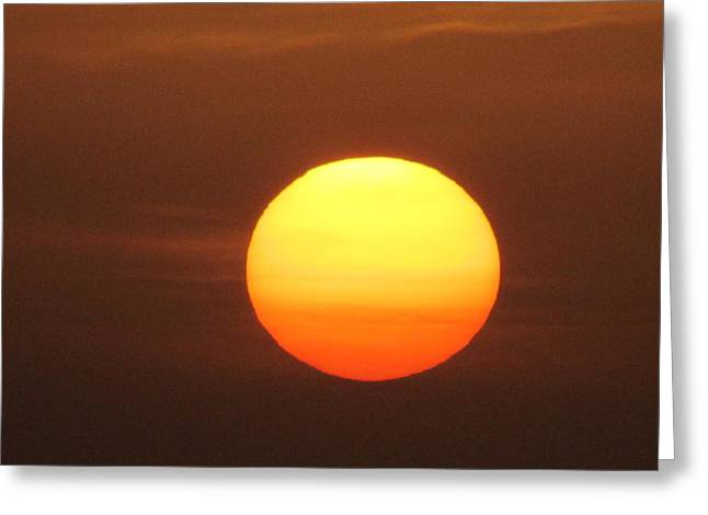 Sundown Greeting Card by Andrea Dale