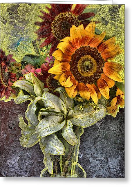 Sunflower Et Al. Greeting Card by Terence Morrissey