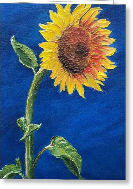 Sunflower In The Light Greeting Card