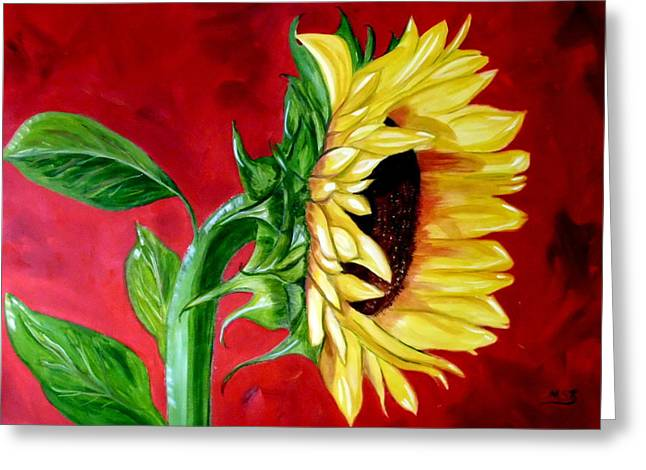 Sunflower Sunshine Greeting Card by Maria Soto Robbins