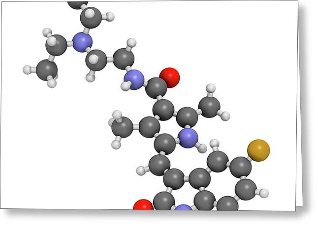 Sunitinib Cancer Drug Molecule Greeting Card by Molekuul