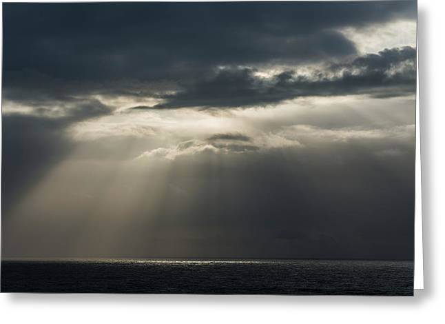 Sunlight Breaks Through The Clouds Greeting Card by Robert L. Potts
