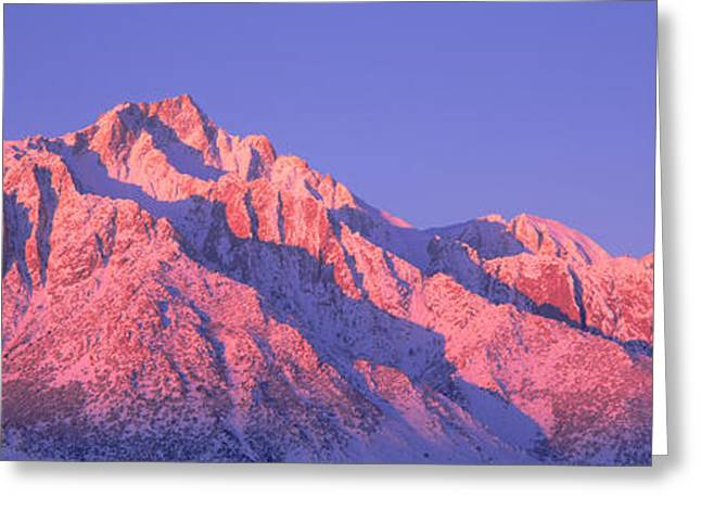 Sunrise At 14,494 Feet, Mount Whitney Greeting Card by Panoramic Images
