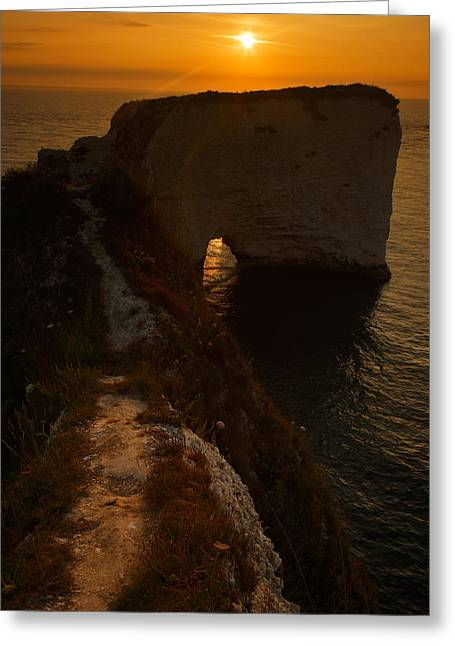 Sunrise At Old Harry Rocks Greeting Card