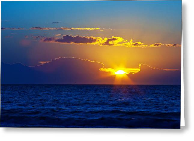 Sunrise At The Beach II Greeting Card