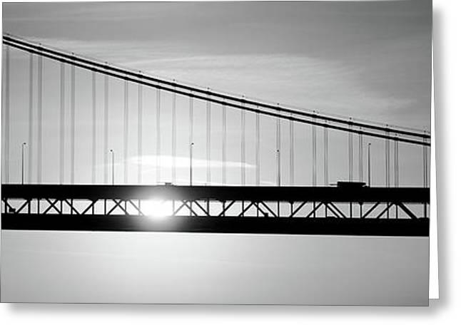 Sunrise Bay Bridge San Francisco Ca Usa Greeting Card by Panoramic Images