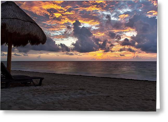 Sunrise In Cancun Mexico Greeting Card