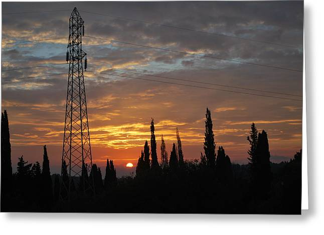 sunrise in Corfu 2 Greeting Card by George Katechis