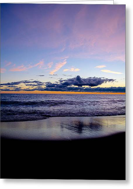 Greeting Card featuring the photograph Sunrise Lake Michigan September 14th 2013 004 by Michael  Bennett