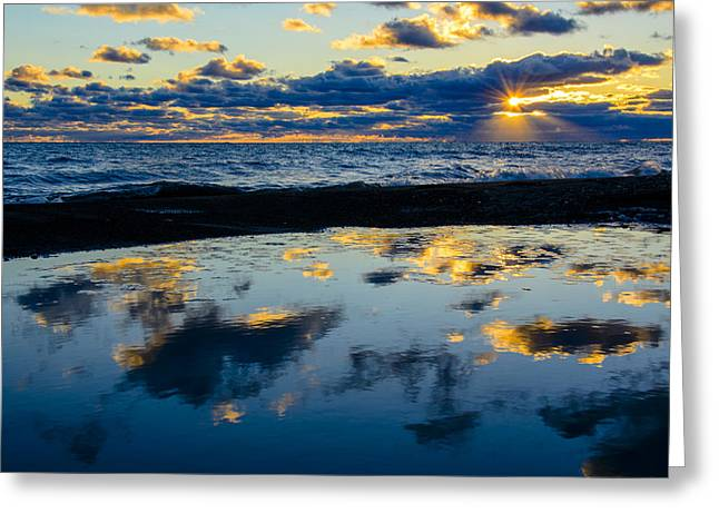 Sunrise Lake Michigan September 14th 2013 006 Greeting Card