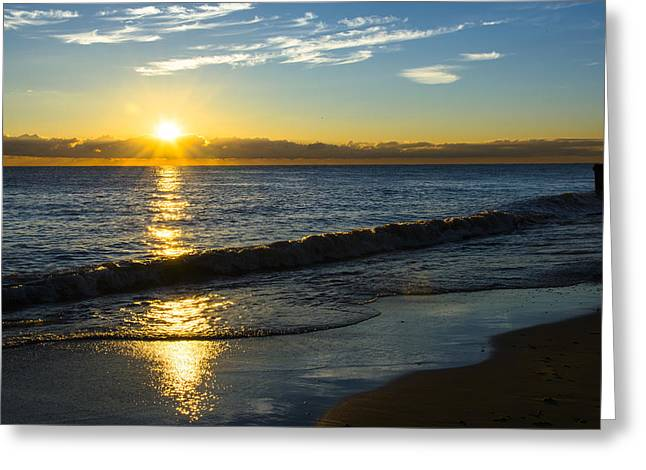 Sunrise Lake Michigan September 14th 2013 040 Greeting Card