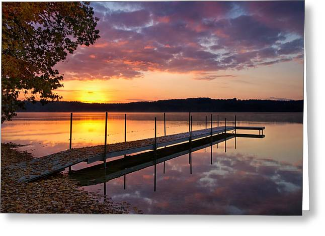 Sunrise On Keoka Lake Greeting Card