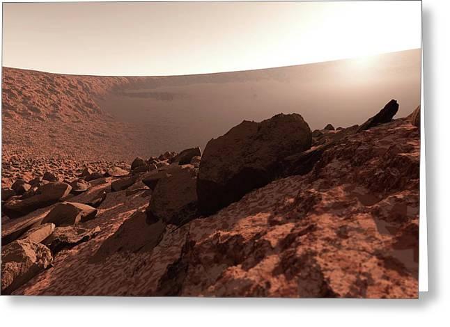 Sunrise On Mars Greeting Card