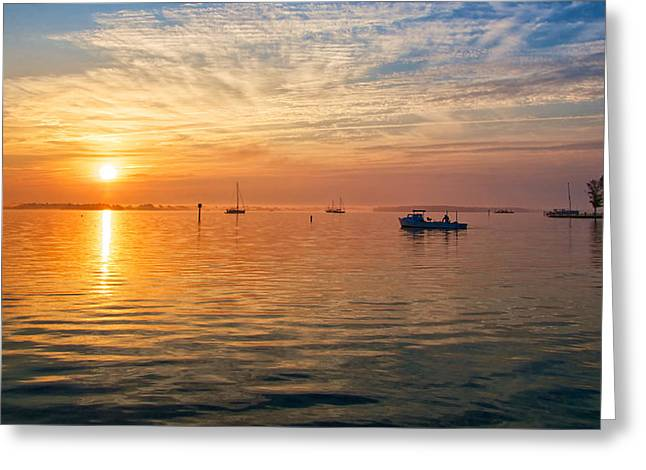 Sunrise On The Chesapeake Bay Greeting Card