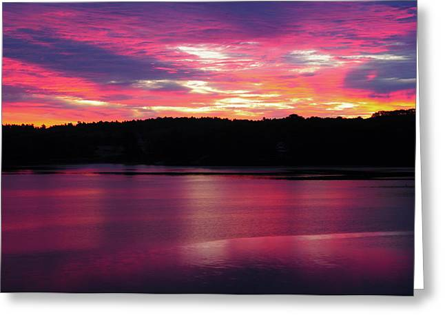 Sunrise On The New Meadows River Greeting Card