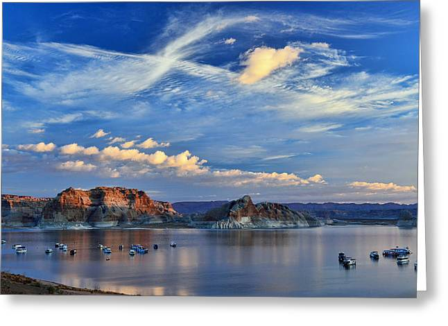 Sunrise Over Lake Powell Az Greeting Card