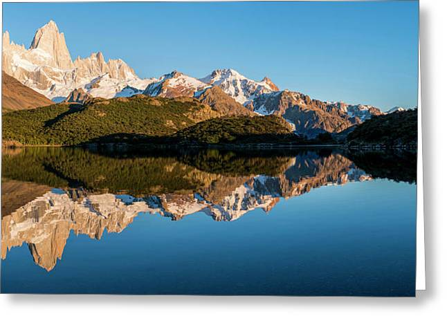 Sunrise Over Mt Fitzroy, Laguna Capri Greeting Card by Panoramic Images